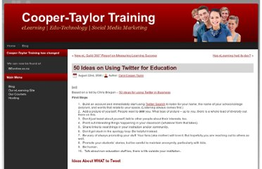 http://cooper-taylor.com/2008/08/50-ideas-on-using-twitter-for-education/