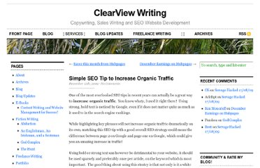 http://www.clearviewwriting.com/2009/12/simple-seo-tip-to-increase-organic-traffic/