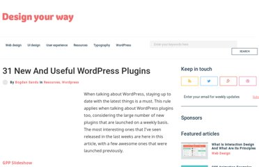 http://www.designyourway.net/blog/resources/31-new-and-useful-wordpress-plugins/