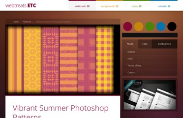 http://webtreats.mysitemyway.com/vibrant-summer-photoshop-patterns/