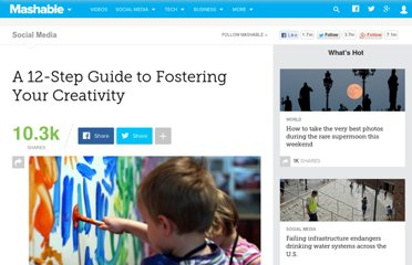 http://mashable.com/2011/04/12/creativity-guide/