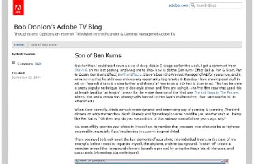 http://blogs.adobe.com/bobddv/2006/09/son_of_ben_kurns.html