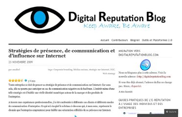 http://digitalreputationblog.wordpress.com/2009/11/23/strategies-presence-communication-influence-internet/