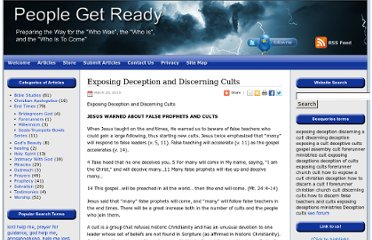 http://peoplegetready.org/christian-apologetics/exposing-deception-discerning-cults/