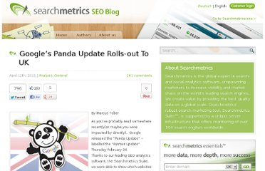 http://blog.searchmetrics.com/us/2011/04/12/googles-panda-update-rolls-out-to-uk/
