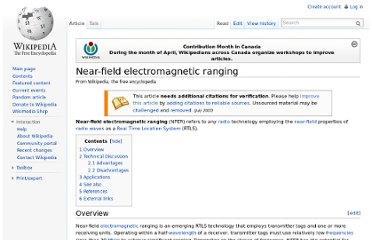 http://en.wikipedia.org/wiki/Near-field_electromagnetic_ranging