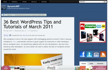 http://www.dynamicwp.net/articles-and-tutorials/36-best-wordpress-tips-and-tutorials-of-march-2011/