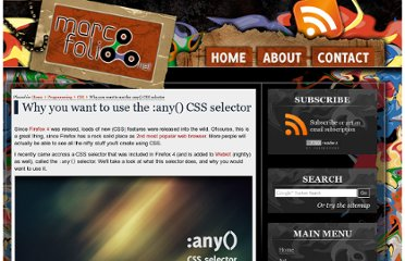 http://www.marcofolio.net/css/why_you_want_to_use_the_any_css_selector.html