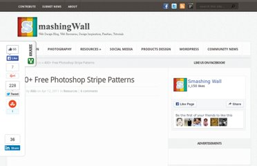 http://smashingwall.com/resources/400-free-photoshop-stripe-patterns/