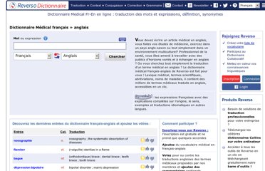 http://dictionnaire.reverso.net/medical-francais-anglais/