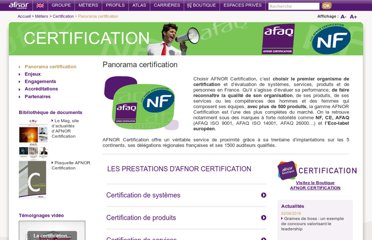 http://www.afnor.org/metiers/certification/panorama-certification