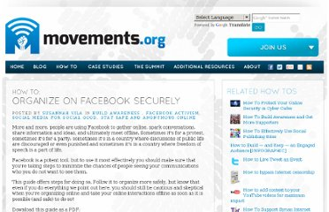 http://www.movements.org/how-to/entry/organize-on-facebook-securely/