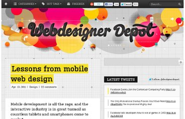 http://www.webdesignerdepot.com/2011/04/lessons-from-mobile-web-design/