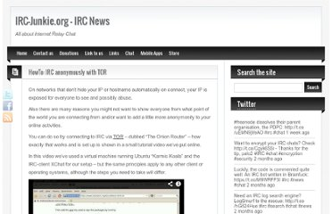 http://www.irc-junkie.org/2009-12-31/howto-irc-anonymously-with-tor/
