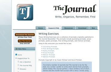 http://www.davidrm.com/thejournal/tjresources-exercises.php
