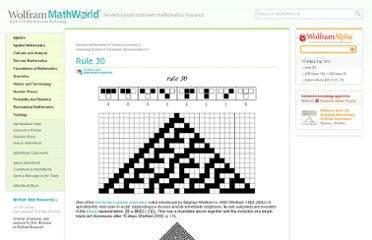 http://mathworld.wolfram.com/Rule30.html