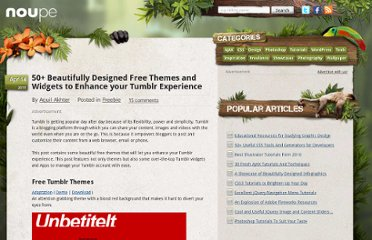 http://www.noupe.com/freebie/50-beautifully-designed-free-themes-and-widgets-to-enhance-your-tumblr-experience.html