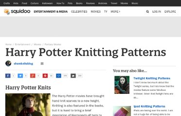 http://www.squidoo.com/harrypotterknitting