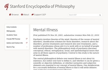 http://plato.stanford.edu/entries/mental-illness/