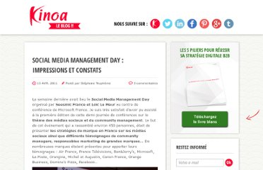 http://blog.kinoa.com/2011/04/13/social-media-management-day-impressions-et-constats/