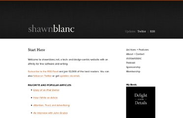 http://shawnblanc.net/start/