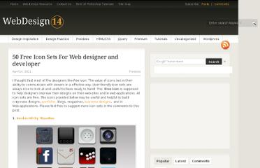 http://webdesign14.com/50-free-icon-sets-for-web-designer-and-developer/