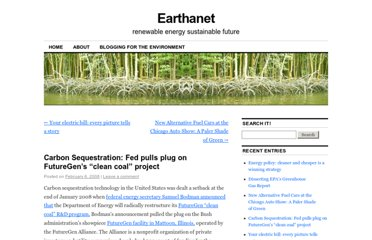 http://earthanet.com/2008/02/06/carbon-sequestration-fed-pulls-plug-on-futuregens-clean-coal-project/