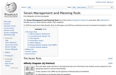 http://en.wikipedia.org/wiki/Seven_Management_and_Planning_Tools