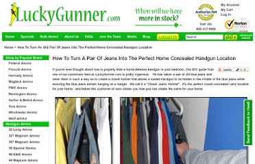 http://www.luckygunner.com/how-to-turn-an-old-pair-of-jeans-into-the-perfect-home-concealed-handgun-location