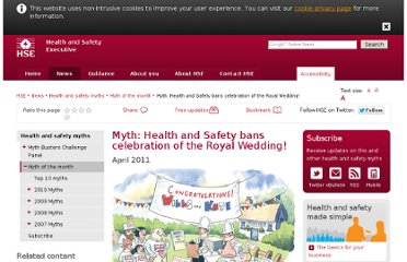 http://www.hse.gov.uk/myth/royal-wedding.htm