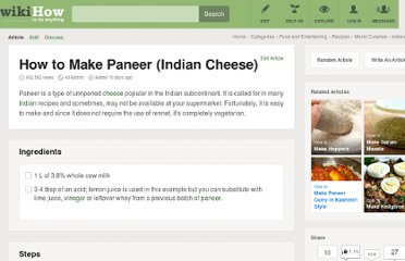 http://www.wikihow.com/Make-Paneer-%28Indian-Cheese%29