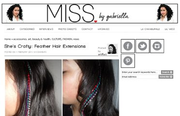 http://www.missomnimedia.com/2011/02/shes-crafty-feather-hair-extensions/