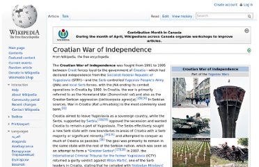 http://en.wikipedia.org/wiki/Croatian_War_of_Independence