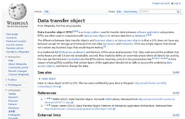 http://en.wikipedia.org/wiki/Data_transfer_object