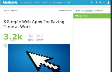 http://mashable.com/2011/04/15/simple-web-apps-productivity/