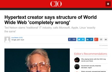 http://www.cio.com.au/article/383395/hypertext_creator_says_structure_world_wide_web_completely_wrong_/