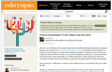 http://www.edutopia.org/groups/project-based-learning/25455