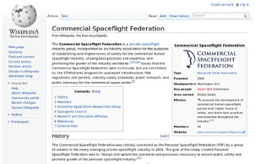 http://en.wikipedia.org/wiki/Commercial_Spaceflight_Federation