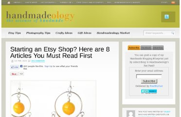 http://www.handmadeology.com/starting-an-etsy-shop-here-are-8-articles-you-must-read-first/