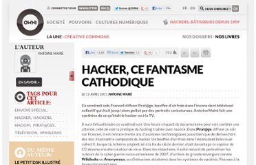 http://owni.fr/2011/04/15/hacker-ce-fantasme-cathodique-piratage/