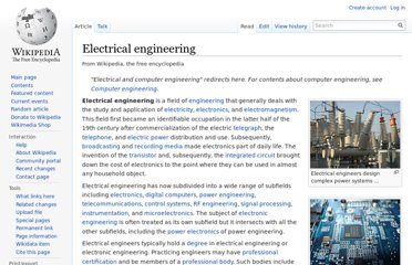 http://en.wikipedia.org/wiki/Electrical_engineering