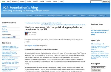 http://blog.p2pfoundation.net/the-love-economy-2-the-political-appropriation-of-happiness-in-the-uk/2011/04/15