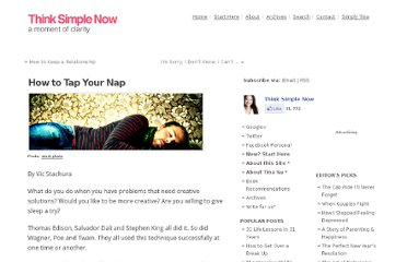 http://thinksimplenow.com/creativity/how-to-tap-your-nap/
