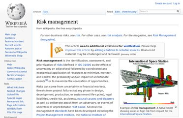 http://en.wikipedia.org/wiki/Risk_management
