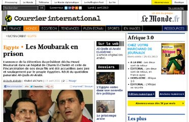 http://www.courrierinternational.com/article/2011/04/15/les-moubarak-en-prison