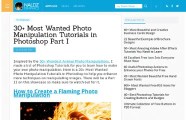 http://naldzgraphics.net/tutorials/30-most-wanted-photo-manipulation-tutorials-in-photoshop-part-i/