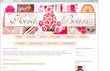 http://heidibearscreative.blogspot.com/2010/03/super-easy-crocheted-rose-tutorial.html