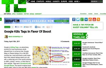 http://techcrunch.com/2011/04/15/google-kills-tags-boost/