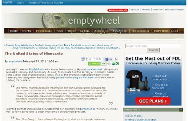 http://emptywheel.firedoglake.com/2011/04/15/the-united-states-of-monsanto/