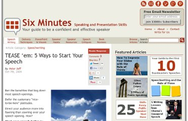 http://sixminutes.dlugan.com/how-to-start-your-speech/